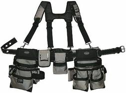 Carpenters Electrician Construction Tool Belt Bag With Suspe