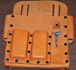 Carrier Tool 5140 Rigid 5 Comparment Tool Bag Top grain Cowh