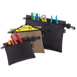 Custom Leather Craft Set of 3 Multi-Purpose, Clip-On, Zipper