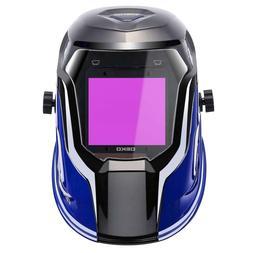DEKO Solar Powered Welding Helmet LED Digital Display Adjust