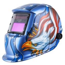 Auto Darkening Welding Helmet Arc MMA Tig Mig Mask Grinding