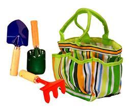 G & F 10012 JustForKids Kids Garden Tools Set with Tote hand
