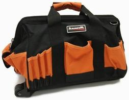 Homak 15-Inch Rolling Tool Bag On Wheel w/ 22 Pockets and Ex
