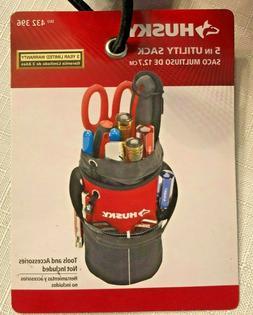 Husky 5 in. Utility Sack w Pockets Storage Bag for Tools Acc