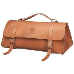 """Klein Tools 5108-24 24"""" Deluxe Leather Tool Bag"""