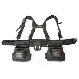 Magnetic 20-Pocket Tool-Belt Construction Suspender Strap Po