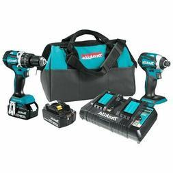 Makita XT275PT 18-Volt 5.0Ah 2-Tool Cordless Drill and Impac
