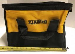 """NEW DEWALT Nylon 13"""" X 10"""" X 9"""" Contractors Medium Tool Bag"""