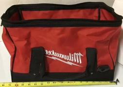 "NEW MILWAUKEE 17"" X 11"" X 10"" Large Tool Bag Tote Case With"
