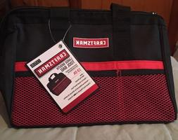 New! Craftsman Large mouth Reinforced Tool Bag 13 in.  Black