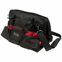 "Performance Tool 18"" Tool Bag with Pockets Shoulder Strap Bl"