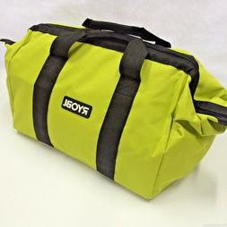 Ryobi One Contractors Canvas Green Wide-Mouth Tool Bag 17 X
