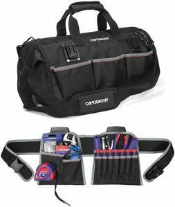 Tool Bags WORKPRO Heavy Duty 18-Inch Molded Waterproof Botto