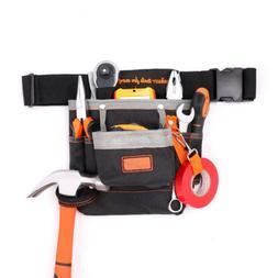 Tool Pouch Belt Bags 7 Pocket Holster Storage Holder Electri