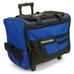 Vaughan 18-Inch Wide Mouth Rolling Tool Bag, Telescoping Han
