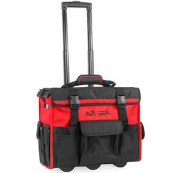 "XtremepowerUS 18"" Rolling Portable Tool Bag with wheels Stor"