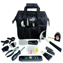 Hyper Tough Affordable 89-Piece Household Tool Set with Blac