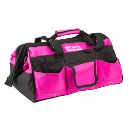 Tool Bag Pink 16 Inch Padded Carry Handle Wide MOuth Zippere
