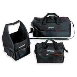 "WORKPRO 3PC Tool Bag Set Multi Function 8"" Square 12"" Wide-O"
