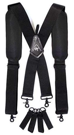 Tool Belt Suspenders- Heavy Duty Work Suspenders for Men, Ad