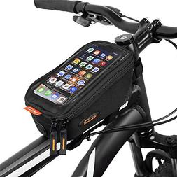 Ibera Bicycle Top Tube Phone Bag, Water-resistant Touch Scre