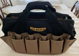 STANLEY Black & brown Tool Bag  double row of outside pocket