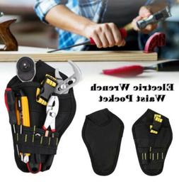 Black Heavy Duty Tool Belt Pouch Belt Bag Pocket Drill Holst