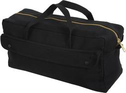 Black Mechanics Brass Zipper Heavy Duty Jumbo Tool Bag
