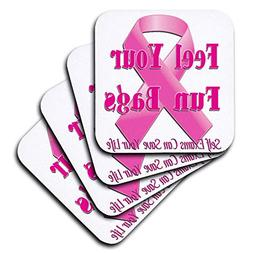 3dRose Blonde Designs Funny Breast Cancer Support - Feel You