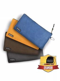 Brown, Blue and Orange Waxed Canvas Tool Bags Heavy Duty Too