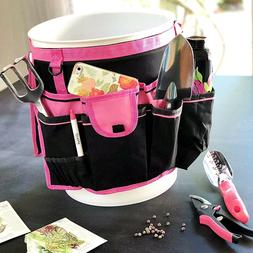 Bucket Gardening Organizer Tool Holder Tote Bag 5 Gallon Fit