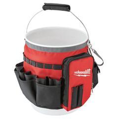 Milwaukee Bucket Organizer Tool Bag Zipper Pockets Pouches S
