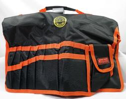 Bucket Tool Bag / Organizer Black and Orange T2