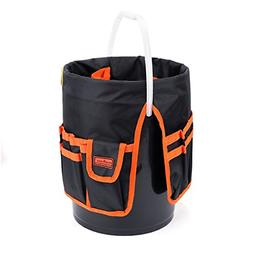 Bucket Tool Organizer Bag Garden 30 Pocket 5 Gallon Assorted