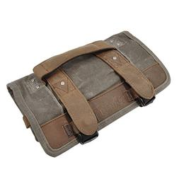 Burly Brand Voyager Tool Roll in Brown - Aged/Distressed Wax