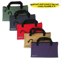 Canvas Tool Bags with Handles - 5 Pack - Heavy Duty 20 Oz. C