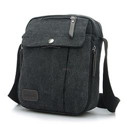 Ecokaki Canvas Small Messenger Bag Casual Shoulder Bag Trave
