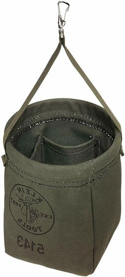 Klein Tools Canvas Tool Bag Storage Organizer Bucket Hanging