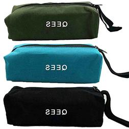 3 PCS Small Portable Canvas Zipper Bag Multi-purpose Tool Po