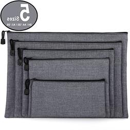 ADVcer 5 Pack Canvas Zipper Tool Bag Set - 5 Sizes B4 A4 B5