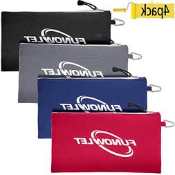 Canvas Zipper Utility Tool Bag - 4 Pack Great Quality Heavy