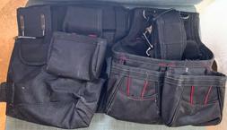 Husky Carpenter Framer Tool Belt Pockets Bags Suspenders Sus