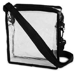 Clear Tote Bag PVC Crystal Clear Shoulder Strap Zippered Top