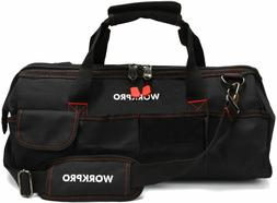 """Close Top Storage Tool Bag, 18"""", Black/Red, W081023A  Best s"""