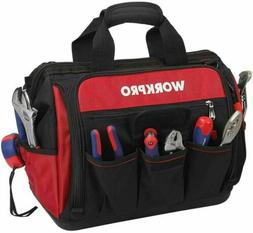 WORKPRO 14-inch Close Top Wide Mouth Storage Tool Bag