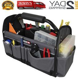 Open Top Electricians Tool Bag Stiff Frame Tote Tool Box Uti