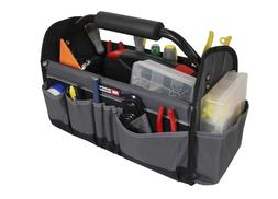 Collapsible Tote Organizer Open Tool Bag With 14 Compartment