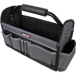 Contractors Tool Bag Collapsible Tote 15In 14 Exterior Pocke