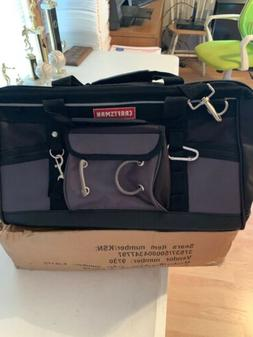 Craftsman Large Mouth Tool Bag 18 Inch Heavy Duty Bottom Con