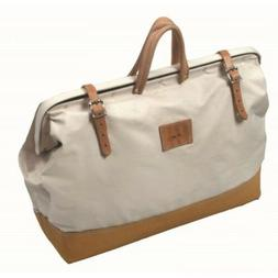 "Kraft Tool Deluxe Canvas Bag 14"" x 22"" w Leather Bottom Made"